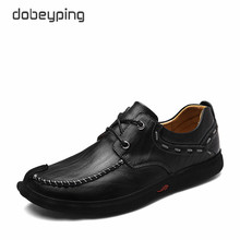 2017 New Men's Casual Shoes 100% Genuine Leather Men Flats Lace-Up Man Loafers Male Business Footwear Moccasins Man Boat Shoes