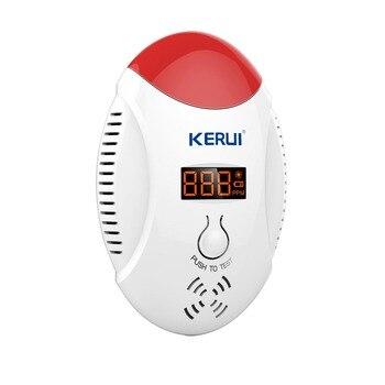 Kerui llevó pantalla digital detector de co carbono seguridad en el hogar seguridad co gas de alarma del detector de la voz de alarma de batería kr-cd17
