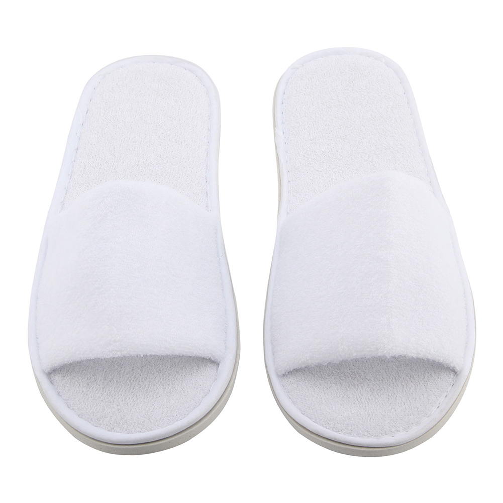 VSEN Hot 5 pair White Towelling Hotel Disposable Toe Slippers Terry SPA Guest Party Shoes<br><br>Aliexpress