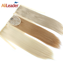 "Alileader Synthetic Hair Products Ponytail Extension Piano Brown Blonde White Black Pony Tail Hair Clip In Fake Ponytails 18""(China)"