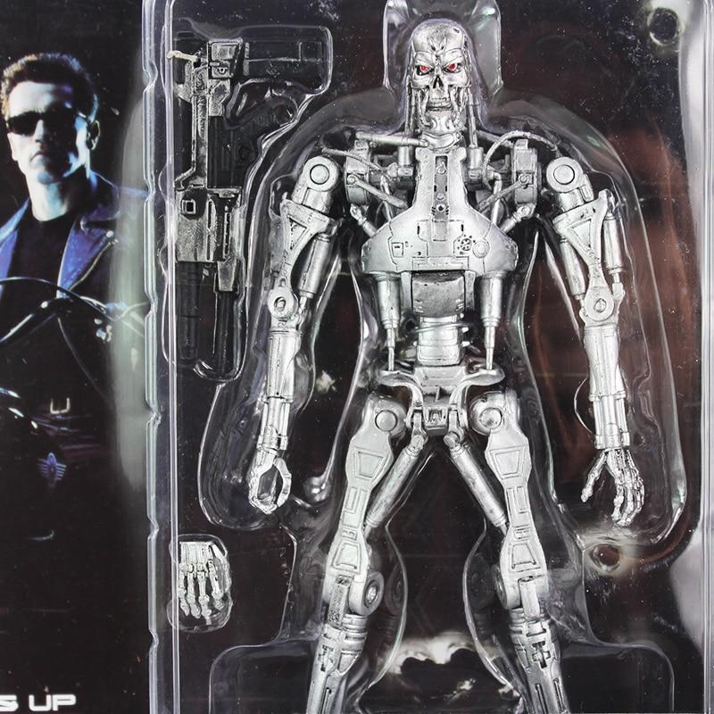 """Terminator 2 Judgment Day T-800 Endo skeleton PVC Action Figure Robot Toys 7/"""" 18"""