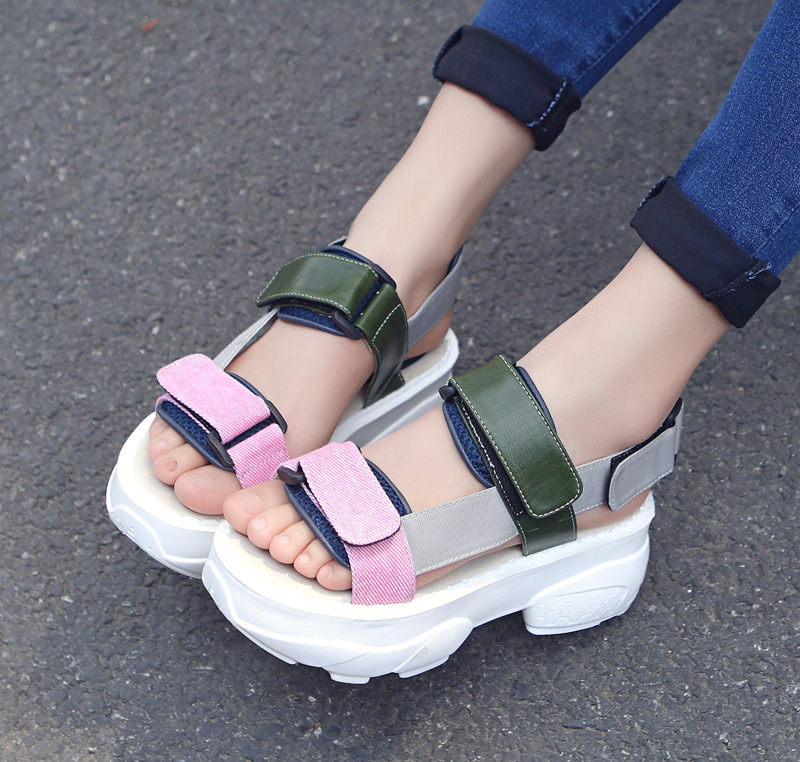 summer 2017  new Europe United States street snap hook loop peep-toe platform sandals han edition fashion female sandals<br><br>Aliexpress