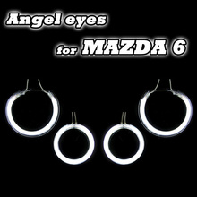 Hot sale fashionable angel eyes headlight ccfl halo rings for mazda 6 factory direct supply one year warranty free shipping