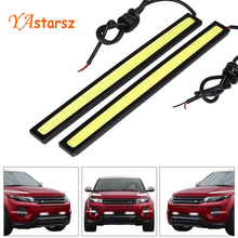 Car styling 1pcs Ultra Bright 12V 12W Daytime Running Lights 17cm Length Daylight COB Car LED DRL Day time lamp Waterproof white