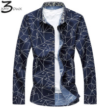 Buy XMY3DWX 2018 New product fashion male spring High-grade pure cotton long-sleeve shirts/men's lapel slim Fit Business shirts 7XL for $13.16 in AliExpress store