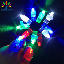 Wholesale 100pcs/lot Plastic Led finger light-up toys led laser ring novelty items Halloween bar event party supplies decoration(China)