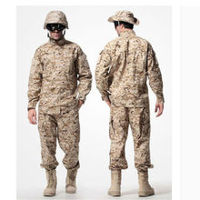 US Army Desert Tactical Military Camouflage Combat Uniform Airsoft Camo ACU Men Clothing Outdoor Hunting suits Jacket + Pants(China)
