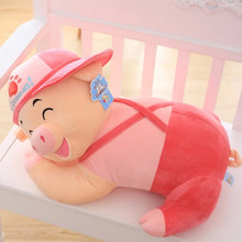 [6 Style 40-60cm] Super Cute Sleeping Pig Plush Pillow Soft Lying Pig Plush Toy Kawaii Toy Kid Girl Gift Brinquedos High Quality(China)