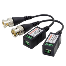 Twisted BNC CCTV Video Balun passive Transceivers UTP Balun BNC Cat5 CCTV UTP Video Balun above 100M Distance 5pcs/lot