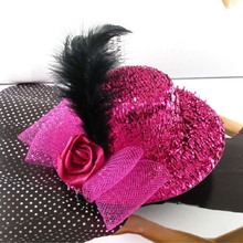 Elegant Mini Top Feather Hat Hair Clip For Women Girls Headwear Party Dress Hair Accessories