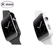 Luxury Itek X6 Bluetooth Curved Touch Screen Smart Watch For iPhone Android With Camera Support SIM Card pk U8 gt08 dz09(China)