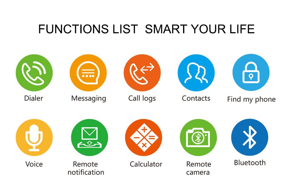 LF18 Bluetooth Smart Watch Phone Full Screen Support SIM TF Card Smartwatch Heart Rate_14