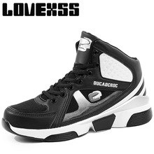LOVEXSS Fall2017 Breathable Mesh Basketball Shoes For Men Ankle Boots Sport Shoes Man Brand High Elastic Men's Sneakers(China)