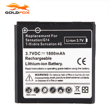 GOLDFOX 1pc 1800mAh Battery For HTC EVO 3D Sensation G17 Z710e Commercial Battery For HTC Sensation G14 G17 Z710e HTC Shooter(China)