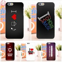 EJGROUP Soft TPU Silicon Top Selling I Love House Music Stylish For Apple iPhone 6 6S 4.7 inch(China)