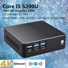 Eglobal Intel Core i5 5200U Broadwell Mini PC Linux Micro Computer Win10 HTPC TV Box 300M Wifi VGA HDMI(China)