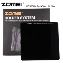 ZOMEI Optical Glass100*100mm 6-Stops ND64 Neutral Density Square Grey Filter for Cokin Z Lee Hitech 100mm Holder