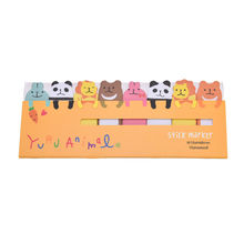 Mini DIY Sticky Notes Note Paper Stickers Stationery Creative Gift Cute Kawaii Cartoon Animal Memo pad Cat Panda Bear
