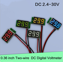 0.36 inch 2-wire DC Digital Voltmeter LED digital display DC 2.4-30V test industrial equipment Electric voltage meter display(China)