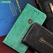 AMMYKI Latest style Luxury No fade Unique flip stents leather cell phone back cover 4.5'For nokia lumia 925 case(China)