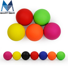 6cm Lacrosse Ball 100% Rubber Fitness Ball Hockey Solid Massage Ball Relaxation Therapy Rehab Tool Full Body Massage(China)