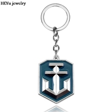 Julie Jewelry World of Warships Game Logo Metal Keychains New Arrival Game Series Key Rings Llaveros porte clef key holder(China)