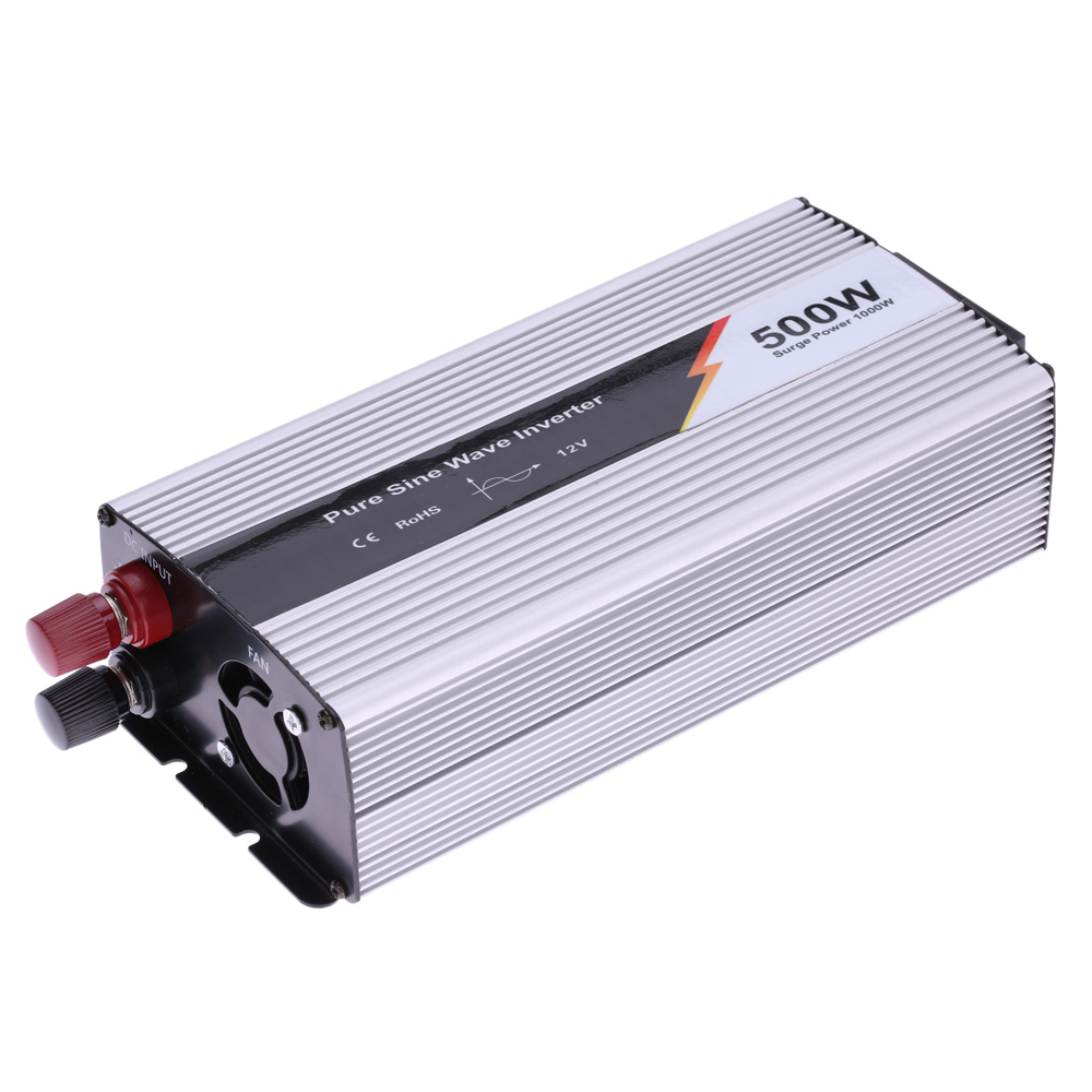 500w 1000w peak pure sine wave power inverter household car power converter charger adapter