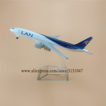 16cm Alloy Metal Air Chile LAN CARGO Airlines Plane Model Boeing 777 B777 Airplane Model with Stand Decoration Gift(China)