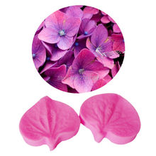 M457 Flower Petal Mold Silicone Texture Cake Mold,Fondant Cake Tool Veining Mold Sugar Fondant Tool 3.7*3.4*0.8cm(China)