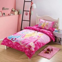 girls princess bed sheets linen 3/4/5pcs 100% cotton fabric pink luxury lovely comforter quilt bedding cover sets for kids