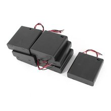7Pcs ON/OFF Switch Plastic Cover 4x 1.5V AA Batteries Case Box Holder(China)