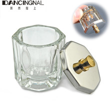 1pc Crystal Glass Dappen Dish / Lid Bowl Cup Crystal Glass Dish Nail Art Tools Acrylic Nail Art Equipment Mini Bowl Cups