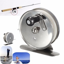 1Pcs Aluminum Sliver Alloy+PC High Speed Fishing Reels Saltwater Sea Ice Simple Fishing Spinning Gear Lighter Hand Wheel Reels