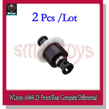 2Pcs Wltoys A949 Front/Rear Complete Differential A949-23 for Wltoys A949 A959 A969 A979 1/18 Rc Cars Parts(China)