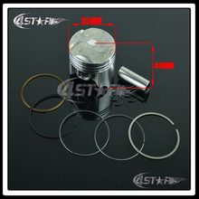 High Performance Motorcycle Piston Ring CB400 Diameter 55MM Piston Accessory Piston Ring Set Kit Assy Free Shippping