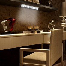Wireless USB Rechargeable 20 LED PIR Motion Sensor Night Light Cabinet Closet Kitchen Wall Lamp Indoor Lighting(China)