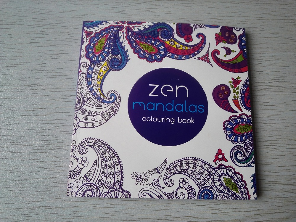 English Edition 128 Pages Mandalas Coloring Book For Adults Children Relieve Stress Kill Time Secret Garden