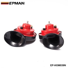 EPMAN - 1 Pair 12v 110dB 510Hz Auto Truck Dual Snail Horn High low Car Motor Vehicle For BMW e39 android EP-HOM039N