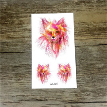 Temporary Tattoos Sleeve  Animals fox Dogs Artificial Flowers Tattoo Many Designs Sex Men Beauty Body Art 3d Tatoo
