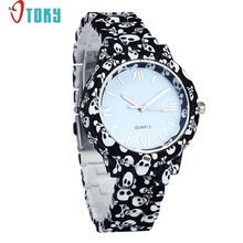 OTOKY Wrist Watch Willby Women Girl's Fashion Simulated-Ceramics Skull/Flower Printed/UK Style Quartz Watch 161217 Drop Shipping(China)