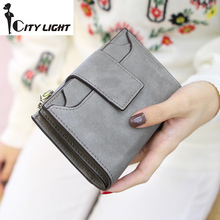 New arrival fashion women wallet ladies zipper hasp Nubuck leather high-capacity students wallet coin purse freeshiping(China)
