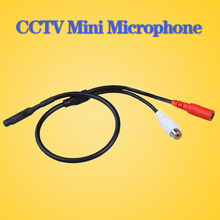 LOFAM Audio pick up CCTV Microphone Wide Range Camera Mic Audio Mini Microphone for CCTV Security DVR(China)