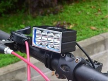 8 x C-XM-L2 13000lm LED Front Head Bike Bicycle light Cycling xml L2 Rechargeable Light Headlamp 6*18650 battery pack
