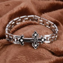 ZOSHI Hot Sale Energy Bracelet Men Silver Stainless Steel Bracelets For Men Women Unisex Jewelry Punk Cross Bracelets & Bangles