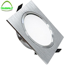 Square Downlights LED SMD 5730 3W 5W 7W Ceiling Lamps 110V 220V Dimmable Spot Down Lights Driver Included