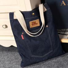 new Fashion women's messenger bags famous brand handbag denim jeans lady shoulder bag vintage large Casual tote shopping bags