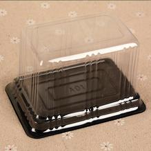 1000PCS Food Grade Disposable Clear Plastic Transparent Cheese Cake Boxes Plastic Uptake Cake Box for Pastry Bakery Dessert shop