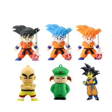 Real Capacity Dragonball Pen Drive Cartoon Dragon Ball Gift 8GB 16GB 32GB 64GB 128GB SON GOKU USB Flash Drive PenDrives(China)