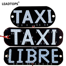 1pcs Taxi LIBRE Lamp LEDs License Plate Car Light Windscreen Cab Indicator Inside LED Taxi Light In led Sign Car taxi For Bmw