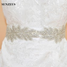 Two Leaves Glitter Beaded Expensive Bridal Belt on Sale Wedding Accessory Satin Fabric Bling Bridal Sash S600
